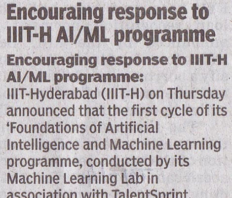 AI/ML Program for Professionals | IIIT-H Machine Learning