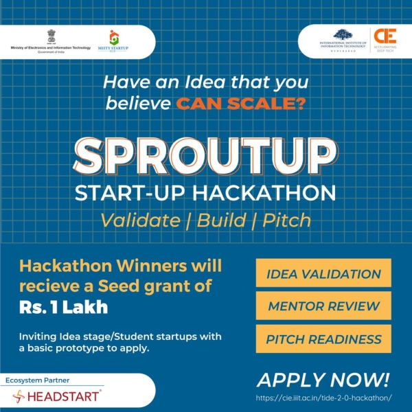sprout up startup hackathon